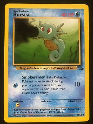 Pokemon 49/62 Horsea Fossil Common NM