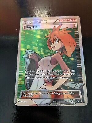 FULL ART Brigette ULTRA RARE 161/162 Pokemon XY Breakthrough Holo LP/NM