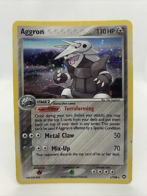 2007 Aggron Holo Ultra Rare Ex Power Keepers Pokemon Card LP 1/108