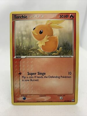 2007 Torchic NM Rare Ex Power Keepers Pokemon Card 67/108