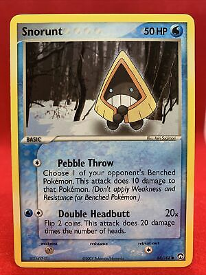 Snorunt 2007 Ex Power Keepers Pokemon Card NM 64/108