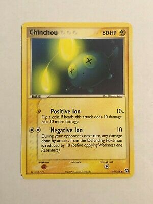 Pokemon Card EX Power Keepers Chinchou 49/108 Excellent Condition