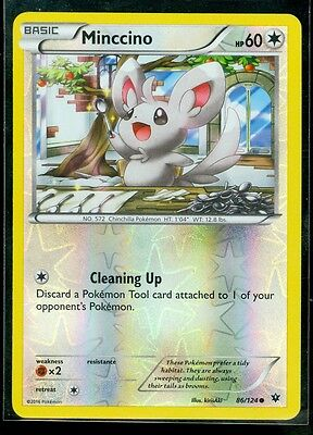 Pokemon MINCCINO 86/124 - XY Fates Collide - Rev Holo - MINT