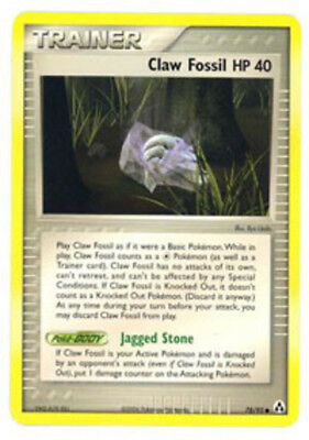 1x Claw Fossil - 78/92 - Common - Reverse Holo NM-Mint Pokemon EX - Legend Maker