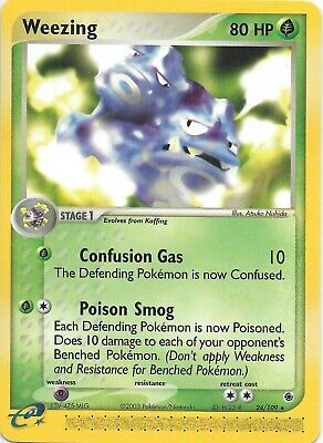 WEEZING 24/109 EX Ruby & Sapphire RARE Pokemon WOTC Card   MINT