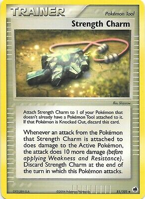 STRENGTH CHARM   81/101 EX DRAGON FRONTIERS Pokemon Card    NM