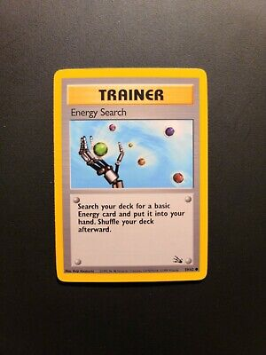 Energy Search - Trainer - Fossil NM Condition. Pokemon