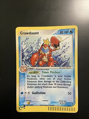 Crawdaunt 3/97 EX Dragon Holographic Rare Pokemon Card NM