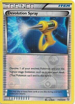 DEVOLUTION SPRAY  113/124 B&W Dragons Exalted Reverse Holo Pokemon Card  NM