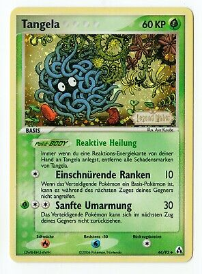 Pokemon Karte Tangela 44/92 Ex Legend Maker Stamp deutsch Reverse Holo NM/M