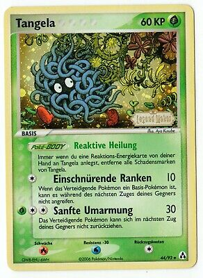 Pokemon Karte Tangela 44/92 Ex Legend Maker Stamp deutsch Reverse Holo NM