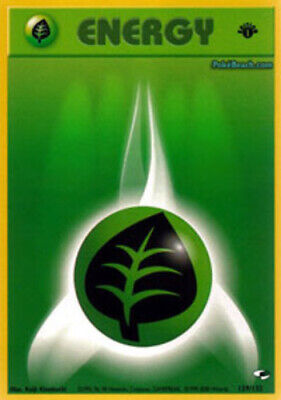 1x Grass Energy - 129/132 - Common - 1st Edition NM-Mint Pokemon G1 - Gym Heroes