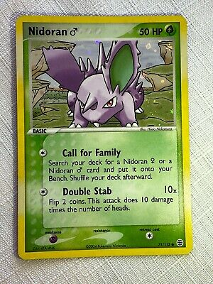 Nidoran 71/112 Holo Pokemon Card Ex FireRed and LeafGreen