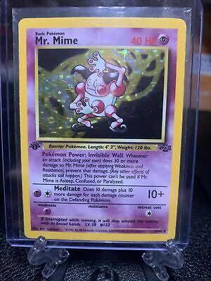 1st Edition MR MIME 6/64 Jungle - Holo Rare Vintage WOTC Near Mint Pokemon Card
