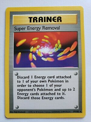 Super Energy Removal Rare WOTC Pokemon Card 079 Base Set Near Mint/Never played