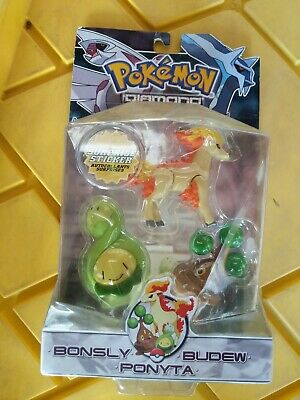 Pokemon Diamond & Pearl Series 2 Bonsly, Budew & Ponyta Figure 3-Pack
