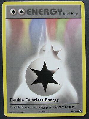 Double Colorless Energy 90/108 Non-Holo XY Evolutions Pokemon Pack Fresh Mint