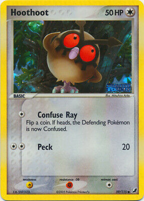1x Hoothoot - 59/115 - Common - Reverse Holo NM-Mint Pokemon EX - Unseen Forces