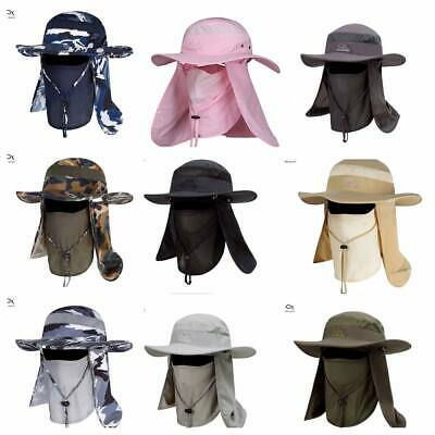 f8df07dd Outdoor Sun Protection Fishing Cap Neck Face Flap Hat Wide Brim Cover Summer