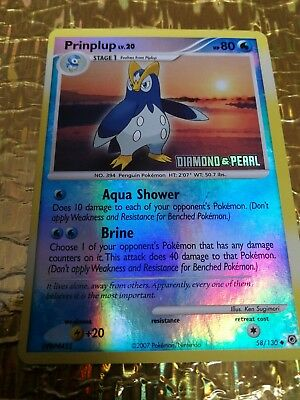 Pokemon Diamond & Pearl Prinplup 58/130 trading card - very good / excellent