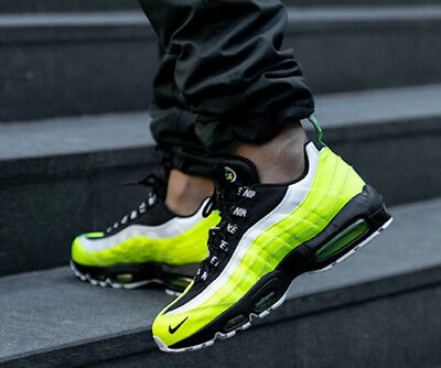 newest e76f6 148ec New NIKE Air Max 95 Mens Sneakers volt white black all sizes