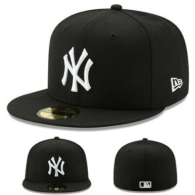 84e56f37c09f6 New Era New York Yankees Black White Kids Fitted Hat Youth Child MLB League  Cap