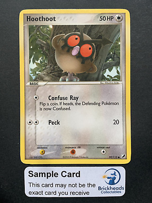 Hoothoot 59/115 Common   Ex Unseen Forces   Pokemon Card