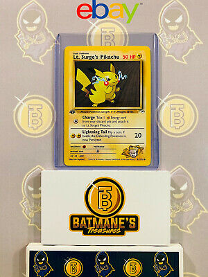 Lt. Surge's Pikachu 81/132 1st Edition NM Gym Heroes Non-Holo Pokemon Card
