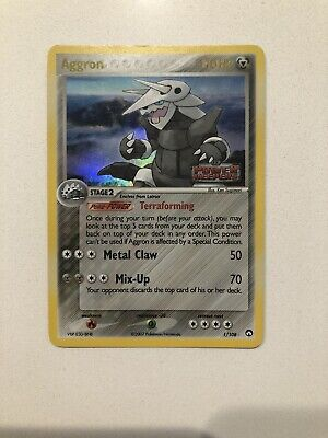 Pokemon 2007 EX Power Keepers Aggron Reverse Holo Card 1/108