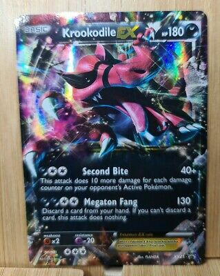 KROOKODILE EX🏆 RARE HOLO XY25 Black Star Promo (Genuine) Pokemon Card🏆