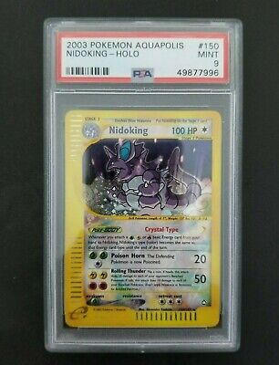Pokemon Aquapolis Crystal Nidoking  #150 PSA 9 MINT Secret Rare
