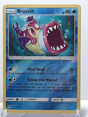 Bruxish 70/214 Pokemon Lost Thunder Reverse Holo Water LP Used See Pictures