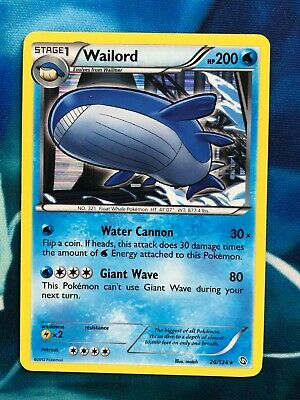 Wailord - Dragons Exalted Holo Rare 26/124 BW Pokemon Card - NM
