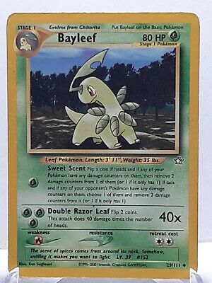 Bayleef 29/111 Pokemon Neo Genesis Grass Uncommon Damaged See Pictures