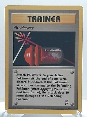 PlusPower 113/130 Pokemon Base Set 2Uncommon Trainer LP Used See Pictures