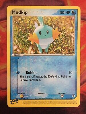 Mudkip 59/109 Pokemon Card EX Ruby Sapphire Pokemon Trading Card Game Vintage NM