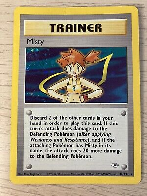 Misty Trainer Card Gym Heroes 18/132 Pokemon Card Foil Holo played