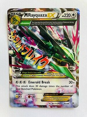 Pokemon Roaring Skies Ultra Rare Holo Mega Rayquaza EX #76/108 NM/LP