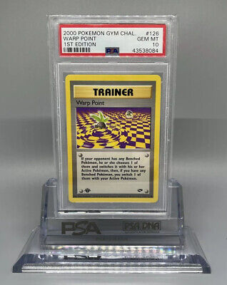 PSA 10 GEM MINT Warp Point 1ST EDITION Gym Challenge Pokemon Card