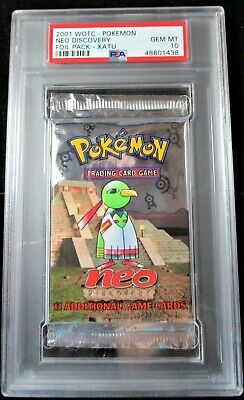 Pokemon Graded Booster Pack Neo Discovery Foil Pack PSA 10 Xatu (1438)