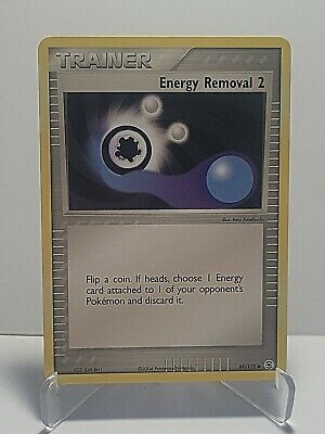 Energy Removal 2 80/109 Pokemon EX Ruby & Sapphire Trainer LP Used See Pictures