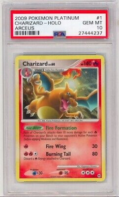 Pokemon Platinum Arceus Charizard 1/99 PSA 10 GEM MINT Holo RARE! POP 32