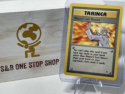 Blaine's Last Resort 105/132 Uncommon - Gym Heroes - Pokemon TCG 2000 Wizards