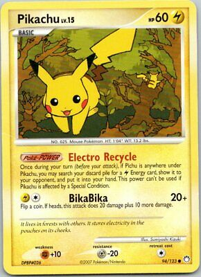 Pokemon Pikachu 94/123 Mysterious Treasures (2007) LP