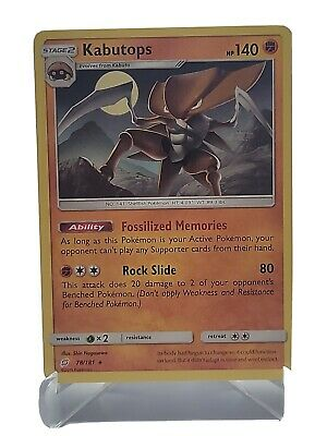 Kabutops 78/181 Pokemon Sun & Moon Team Up Fighting Rare LP Used See Pictures