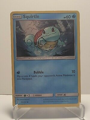 Squirtle 33/214 Pokemon Unbroken Bonds Holo Water Common LP Used See Pictures