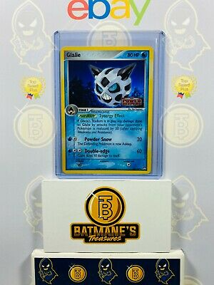Glalie 30/108 MP Played EX Power Keepers Stamp Holofoil Holo Pokemon Card1