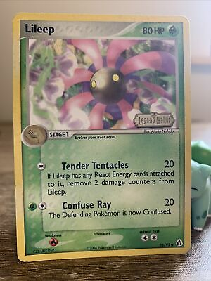Pokemon Card 2006 Lileep 56/92 Holo Common Stamped Legend Maker LP Sleeved