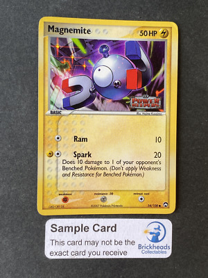 Magnemite 54/108 Holo Common   Ex Power Keepers   Pokemon Card