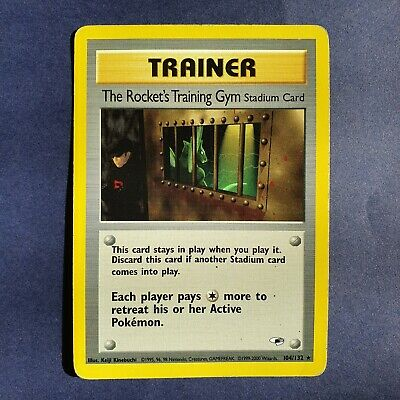 Pokemon Gym Heroes The Rocket's Training Gym 104/132 - Rare Unlimited MP
